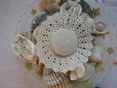 portaspilli a cappellino crochet