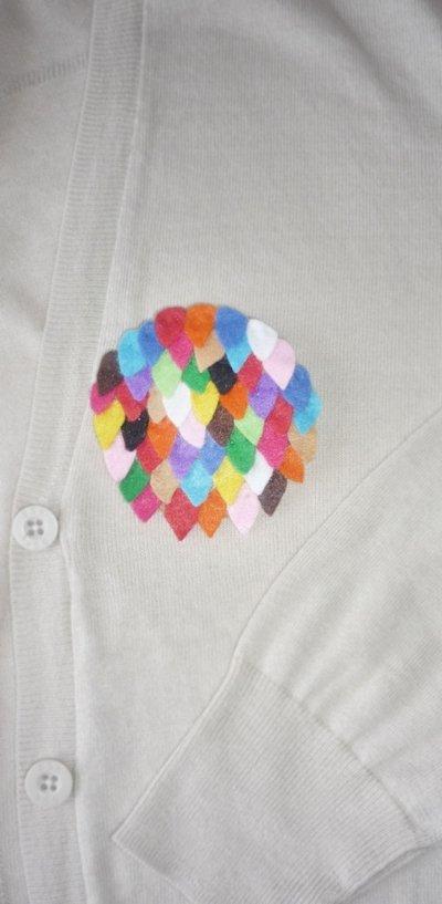 spilla con applicazioni di feltro multicolor FUNNY