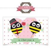 San Valentino Card - le api pazzerelle
