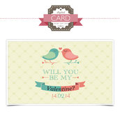 San Valentino Card - Lovely Birds