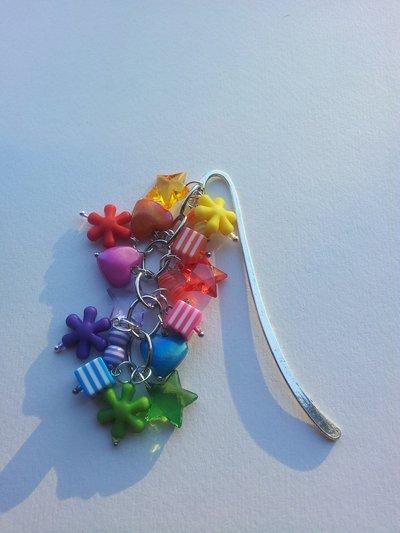 Segnalibro charms arcobaleno