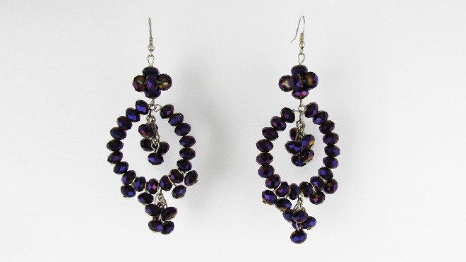 Orecchini Chandelier Purple