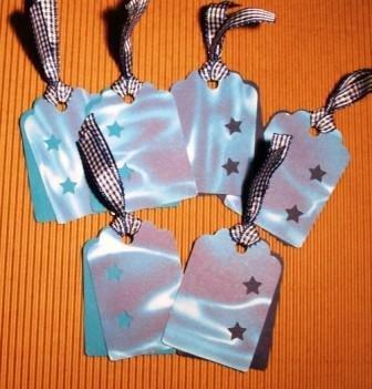 DoubleTags serie Natura^^ - Etichette chiudipacco Doppie - *Stelle marine*