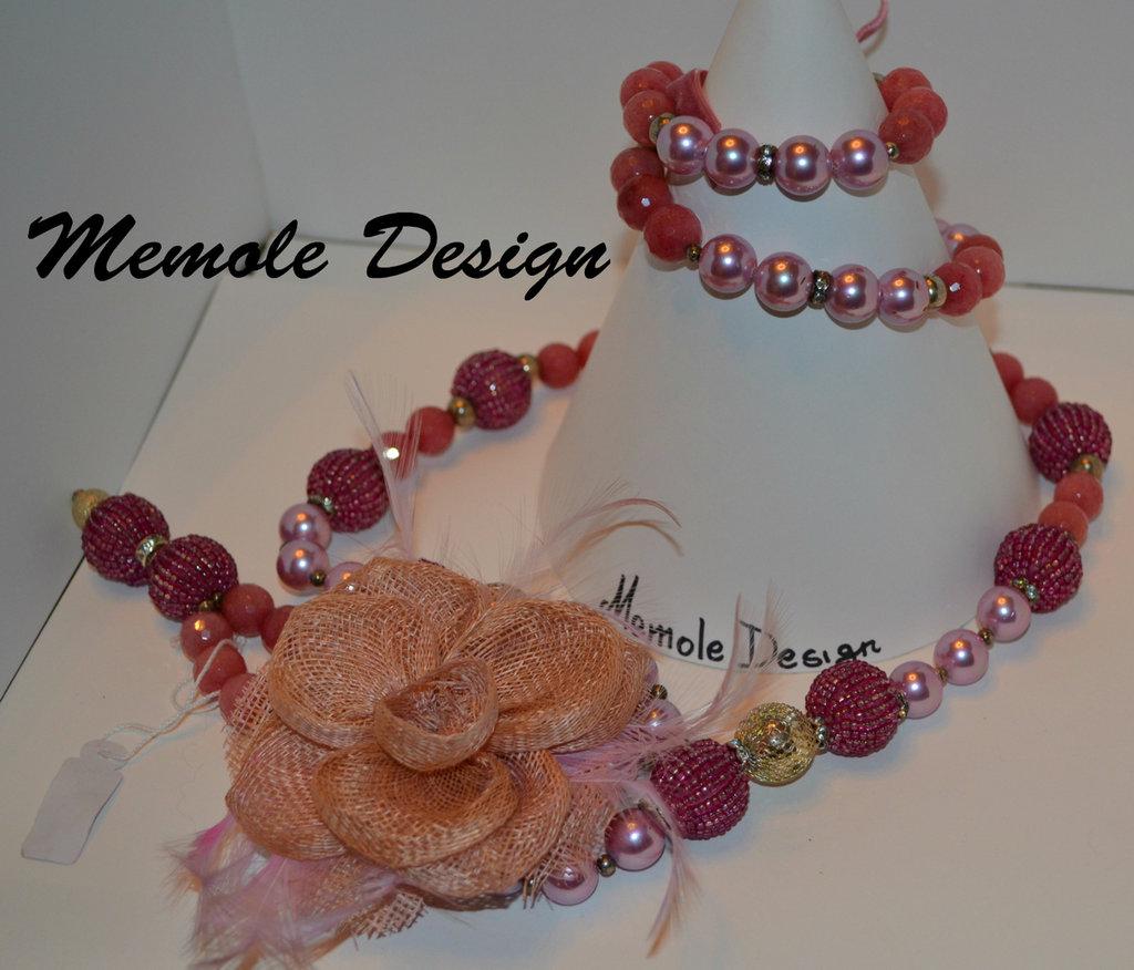 Collana pietre dure con fiore memole design gioielli for Design gioielli