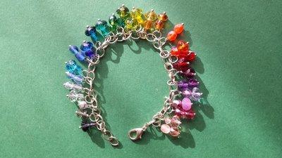 Bracciale charms cristallo arcobaleno