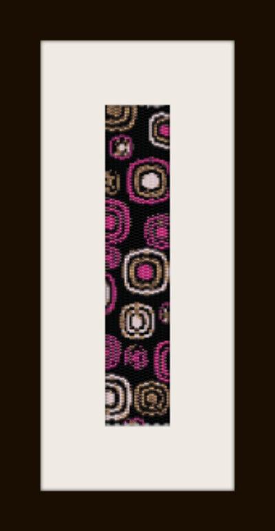 schema bracciale Cerchi Astratti in stitch peyote ( 2 drop ) pattern - solo per uso personale