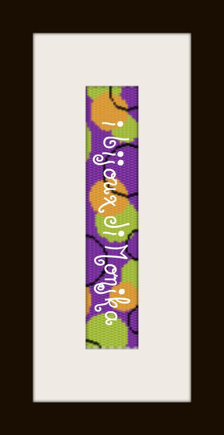 schema bracciale Pois Colorati in stitch peyote ( 2 drop ) pattern - solo per uso personale