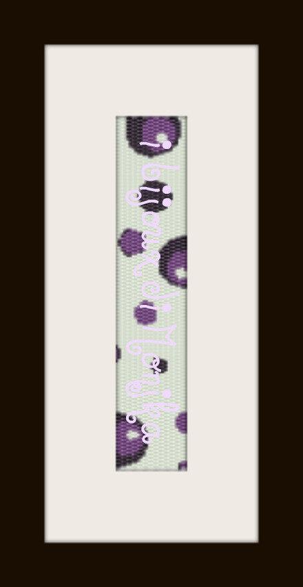 schema bracciale Cerchi Neri/Viola in stitch peyote ( 2 drop ) pattern - solo per uso personale