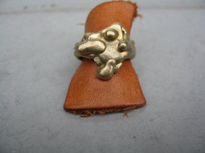 anello in bronzo fusione con la tecnica della cera persa