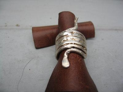 """anelli in argento, fusione """"i serpenti della Dea"""""""