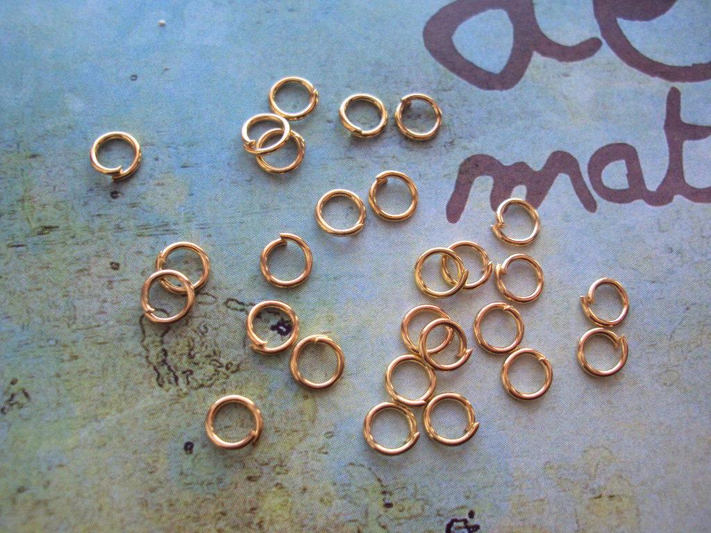 100 Anellini 5mm apribili oro