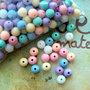 25 Perle pastello 8mm