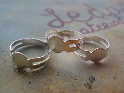 Base anello regolabile argento