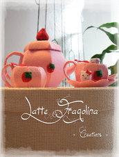 """Giocattolo in feltro """"Set da tè"""" (Mini) - Cibo e alimenti in feltro per bambini  """"tè rimovibile!"""""""