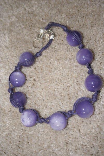 collana perle viola