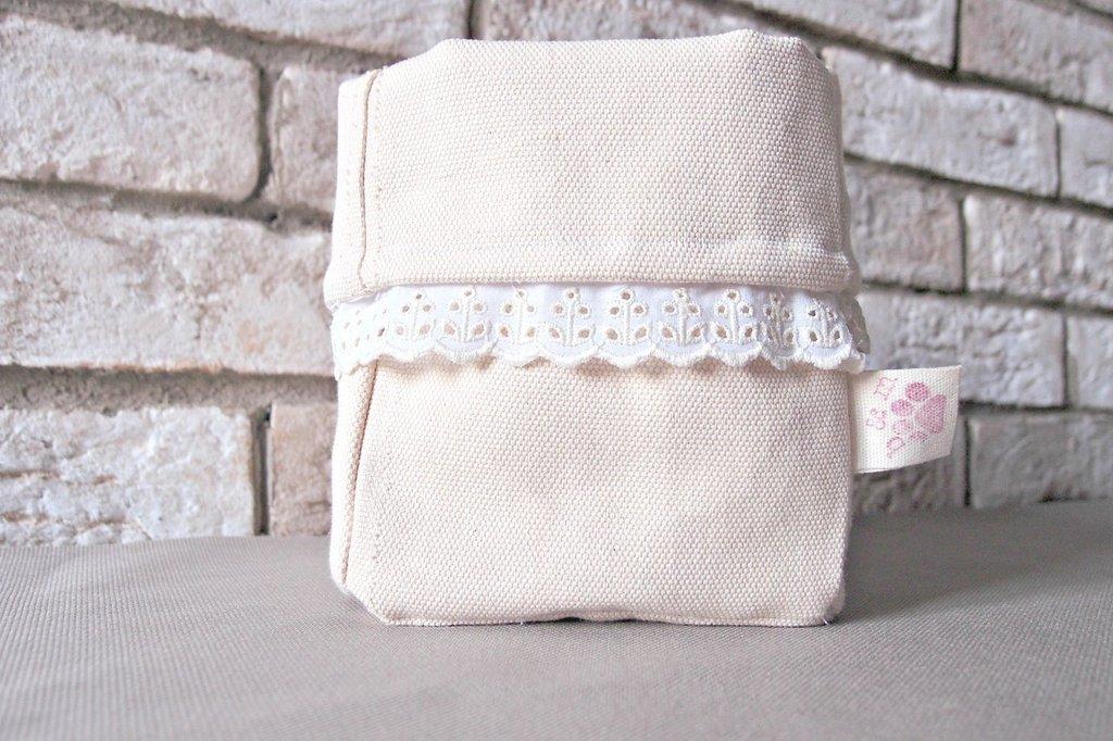 Cestino stoffa porta pane con fondo nocciolini di ciliegia riscaldanti