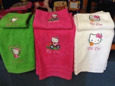 "Asciugamani coppia ""Hallo Kitty"""