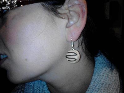 orecchini in fimo yo-yo