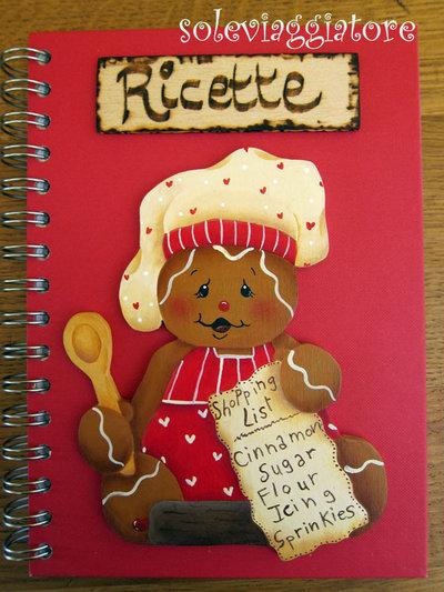 quaderno ricette gingerbeard rosso