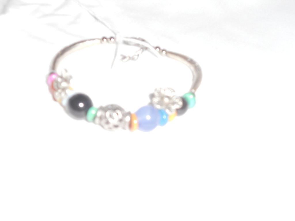 braccialetto pietre dure e argento