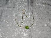 Parure collana e orecchini con pietra dura e swarovski