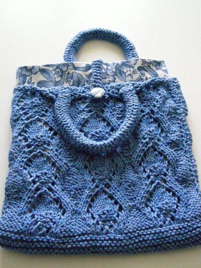 borsetta in cotone con interno a fiori