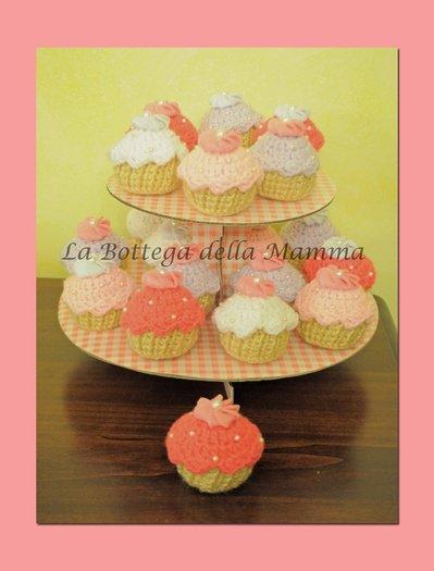 Bomboniera cupcake amigurumi