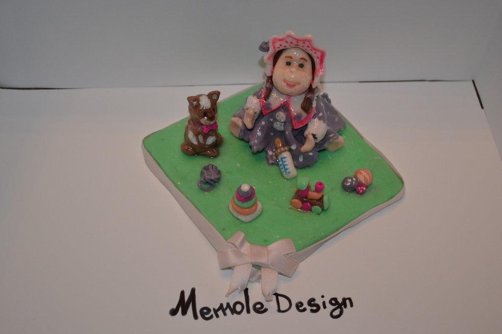 cake topper bambolina giochi memole design