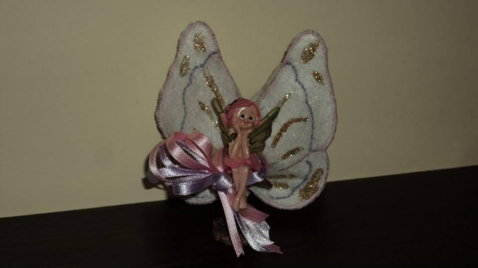 """n. 6 bomboniere con sacchetto artigianale fai da te """"ali di farfalla"""""""
