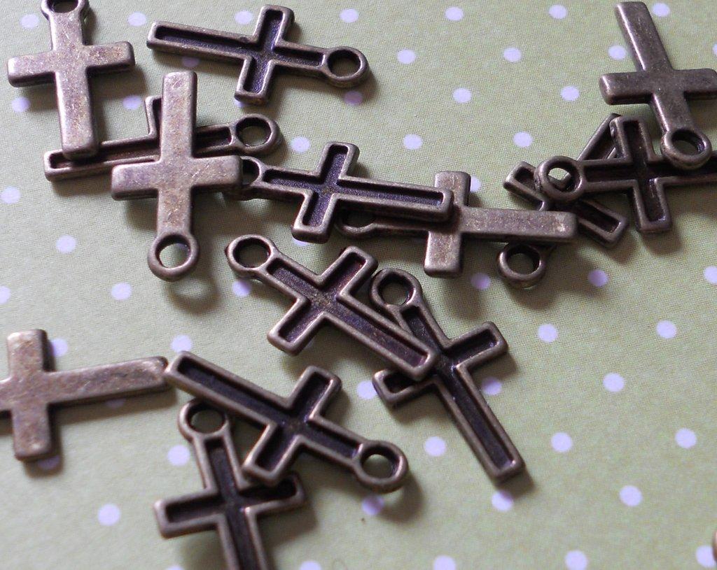 charms croce bronzo