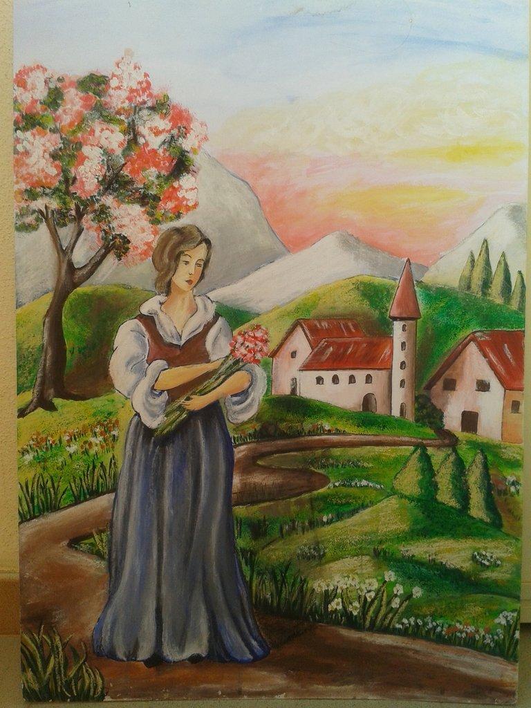 dipinto su cartone telato