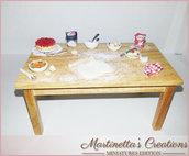 Tavolo preparazione dolci -miniatura in SCALA 1:12