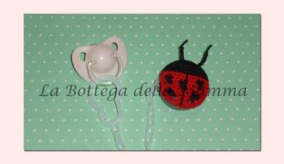Catenina portaciuccio con coccinella handmade