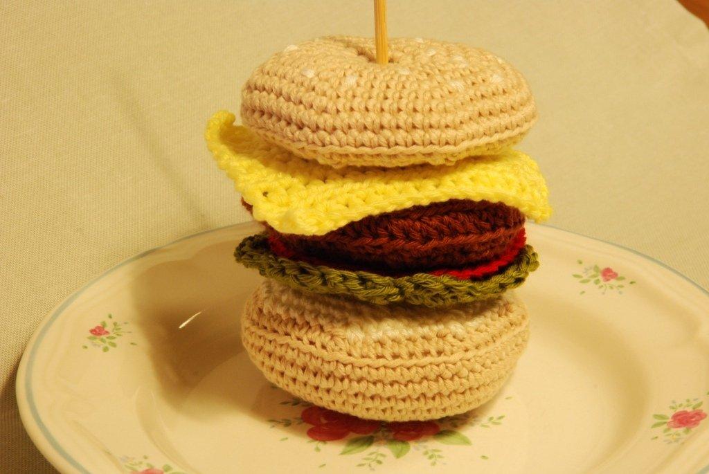 Patrón hamburguesa amigurumi