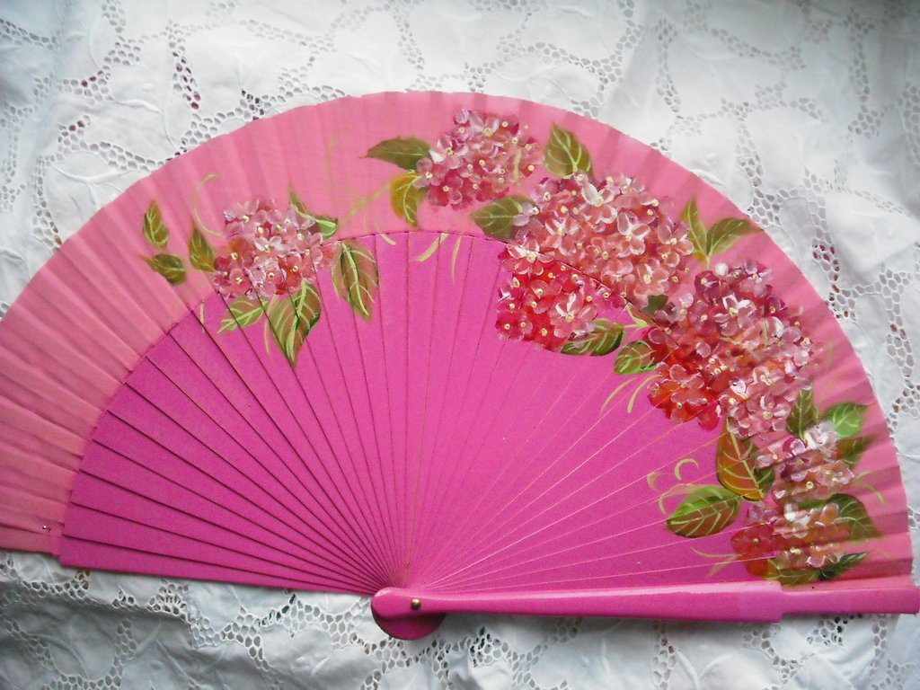 abanico pintado a mano hand painted spanish fan