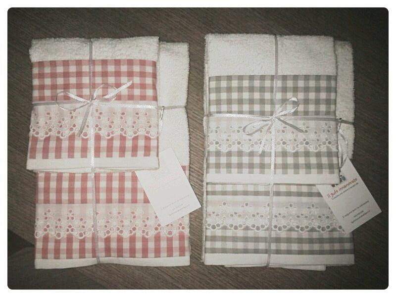Set asciugamano viso + ospite