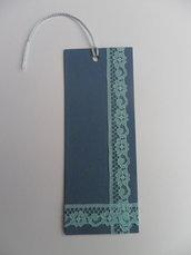 Segnalibro di carta blu