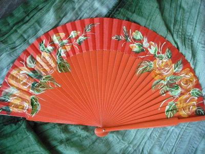 abanico pintado a mano hand painted spanish fan