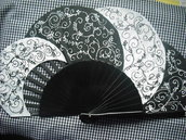 abanico pintado a mano hand painted spanish fan eventail ventaglio