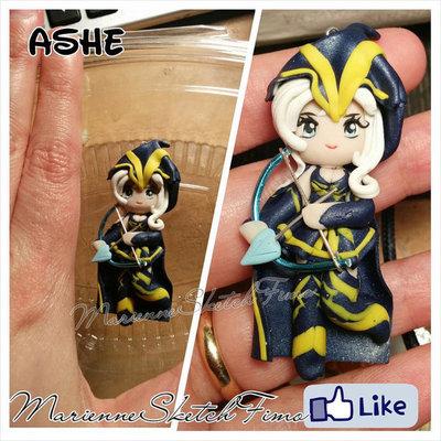 Ciondolo Ashe League of Legends handmade Chibi