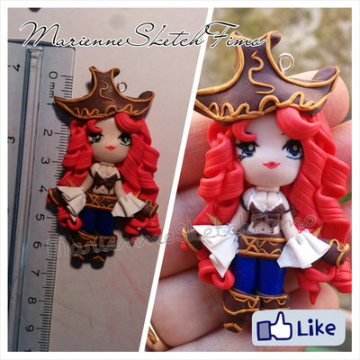 Ciondolo Miss Fortune League of Legends Versione Chibi