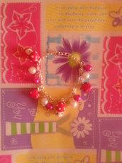 Bracciale fimo kawaii funghetti e mele - ciondoli bracciali orecchini collane