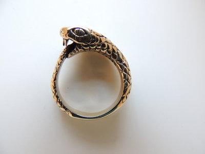 Anello Ouroboro bronzo