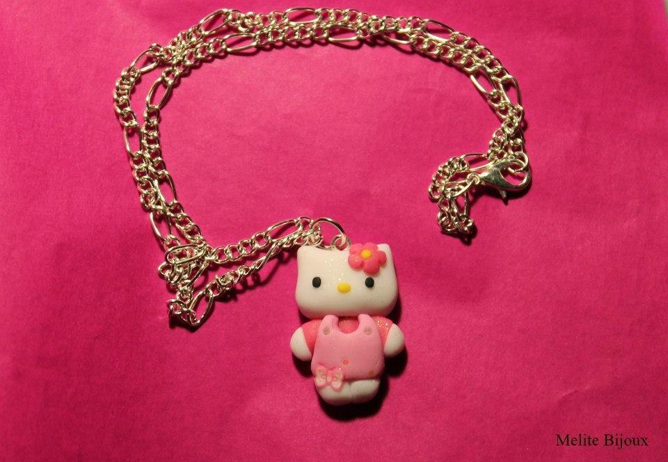 Collana Hello Kitty - Pasta Fimo - su ordinazione