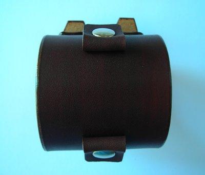 Johnny Depp style leather cuff wristband - bracciale in pelle cuoio