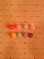 Ciondoli M&M's due a scelta - fimo charms orecchini bracciali portachiavi