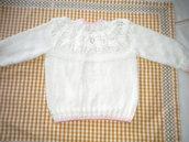 coprifasce neonato interamente realizzato a mano a ferri