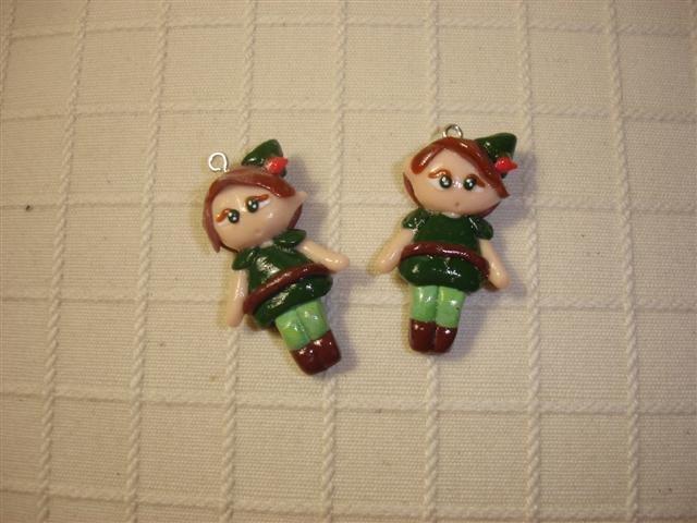 Ciondolo PETER PAN   fimo - charms per orecchini bracciali collana portachiavi