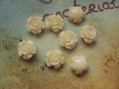 Rosellina con foro - colore avorio