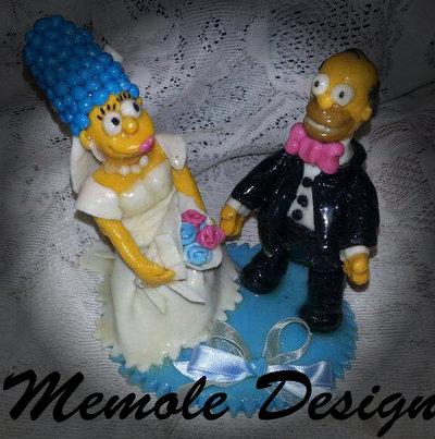 cake topper matrimonio Omer e Marge